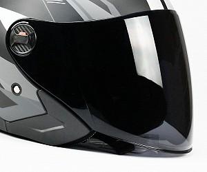 VISIR pour casque de moto JET-9 DARK SMOKE BNO