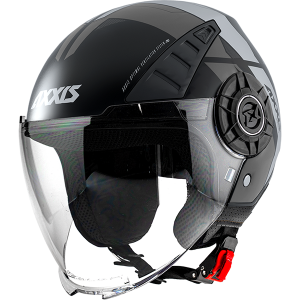 AXXIS OF513 METRO COOL B2 GRIS LUNETTES GLOSS JET MC CASQUE