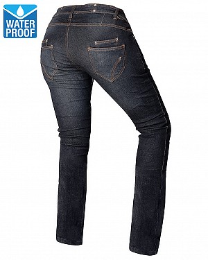 LADY KEVLAR WATERTENS COMMANDER DARKBLUE MC JEANS PANTALON 3D5