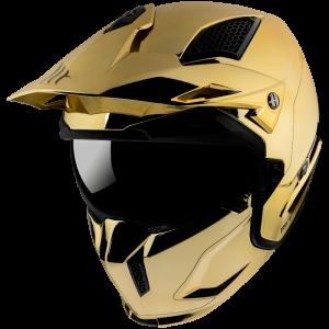 CASQUE MT STREETFIGHTER SV CHROMED A9 GOLD MC / CROSS