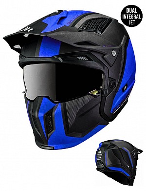 CASQUE MT STREETFIGHTER SV TWIN C7 BLUEBLACK MATT MC / CROSS