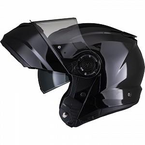 Noir Optimus II Flip Front Gloss Noir 53071503 Casque mc avec ouverture
