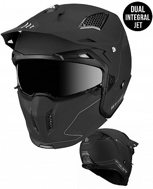 MT STREETFIGHTER MATT BLACK MC / CROSS HELMET 1272000013