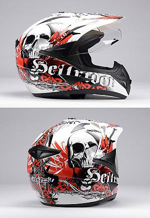 Casque cross BNO CROSS 1 HELLRIDER ORANGE