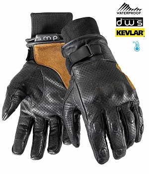 GANTS KEVLAR WATERPROOF MC DUAL WEATHER VINTAGE RIDER