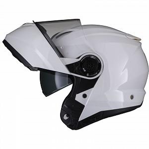 Casque d'ouverture mc noir Optimus II Flip Front Gloss White 53072503
