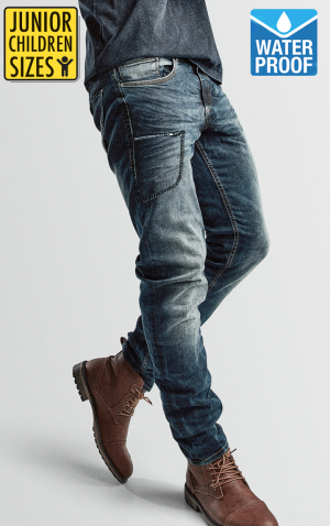 COMMANDANT ÉTANCHE EN JUNIOR ET ENFANT EN KEVLAR, DIRTYBLUE MC JEANS, POCKET JDB-08