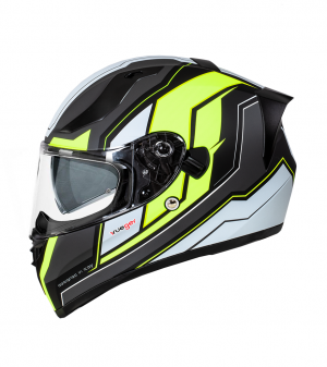 CASQUE FEATHERLIGHT RT-826 NOIR MAT NÉON SOLVISIR INTEGRAL MC