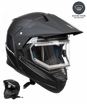 MT DUO SPORT ELECTRIC HEAT MATT BLACK casque mc / cross W10151521