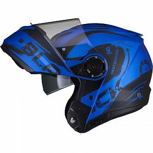 Casque mc ouverture bleu Optimus II Destination Flip Front bleu mat 52970303