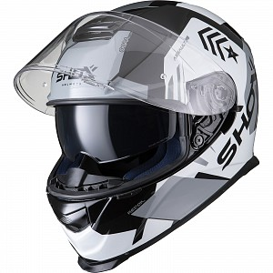 SHOX ASSAULT EVO RECOIL NOIR / BLANC CASQUE MOTOCYCLETTE 0103