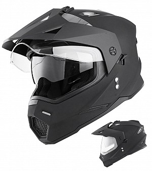 V331 DUAL SPORT CROSS / MOTO 3in1 BLACK MATT Moto / Crosshjälm