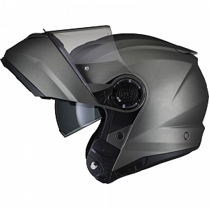 Casque mc d'ouverture noir Optimus II Flip Front Matt Titanium 53074503