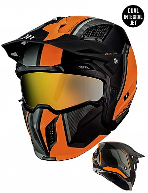 MT STREETFIGHTER MATT ORANGE MC / CROSS HELMET 1272613243