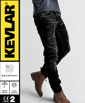 JEAN KEVLAR BASIC WP DARKSHADE GREY MC