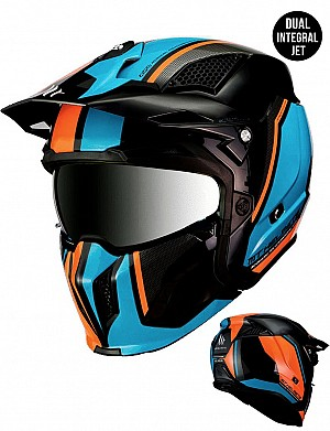 MT STREETFIGHTER SV TWIN A7 MATT MC / CROSS HELMET