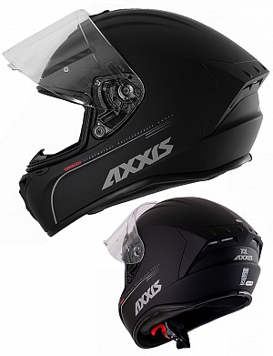 CASQUE AXXIS DRAGON NOIR MAT AERO INTEGRAL MC