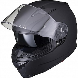 Casque de moto noir APEX FULL FACE NOIR MATT SOLVISIR 5305
