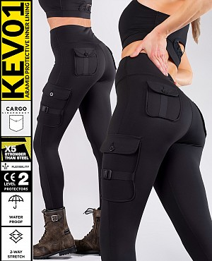 LADY CARGO TOURING WASSERDICHT KEV01 LEGGINGS BIKER MC BYXA