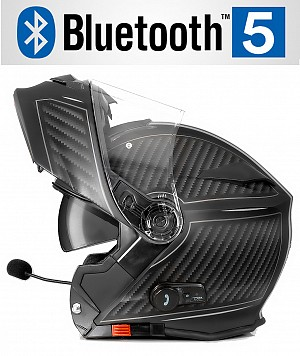 CASQUE BLUETOOTH BULLET HD GRIS MAT V5 SOLVISIR MC