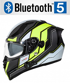 CASQUE BLUETOOTH FEATHERLIGHT MATT NEON SV RT-826BL MC