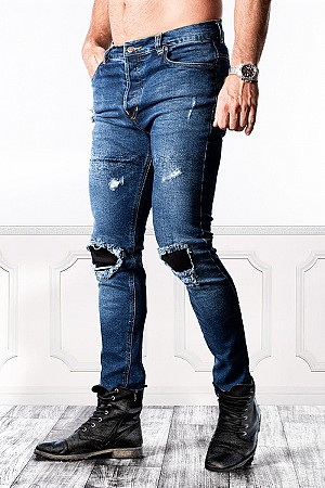 KEVLAR RANGER RIPPED ORIGINAL BLEU MC JEANS ROSE X3