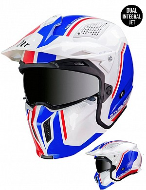 CASQUE MT STREETFIGHTER SV TWIN B7 BLANC BRILLANT MC / CROSS