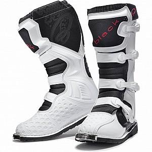Bottes Motocross BLACK MX Enigma Blanches (Certifiées CE Niveau 2) 5225 cross stövlar