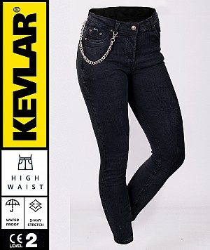 JEAN LADY KEVLAR V2 CRUISER WP DARKKNIGHT BOBBER MC