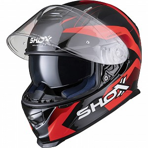 CASQUE MOTO SHOX ASSAULT EVO SECTOR RED 0203