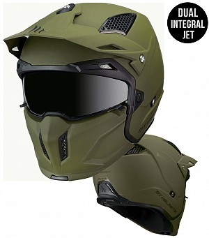 CASQUE MT STREETFIGHTER MATT ARMYGREEN MC / CROSS 1272000063