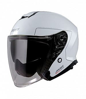 CASQUE AXXIS SV OF504EN MIRAGE SV SOLID A0 BLANCO BRILLO JET MC