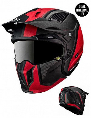 CASQUE MT STREETFIGHTER SV TWIN C5 REDBLACK MATT MC / CROSS