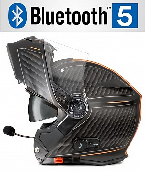 CASQUE BLUETOOTH BULLET HD ORANGE MAT V5 SOLVISIR MC