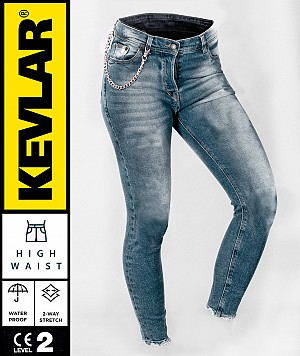LADY KEVLAR V2 CRUISER WP RETRO BLEU BOBBER MC JEANS